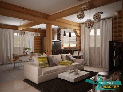 дизайн интерьера частного дома в Казани, дизайн коттеджа