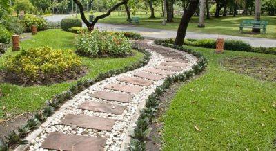 Ландшафтный дизайн Казани, ландшафтный дизайн дачного участка и благоустройство территории дачи, дорожки тротуары.