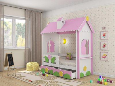 Детская мебель в Казани кровать домик