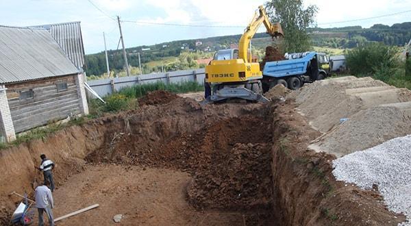Копка котлованов любого уровня сложности и объёмов работ, котлован под фундамент под ключ в Казани цена