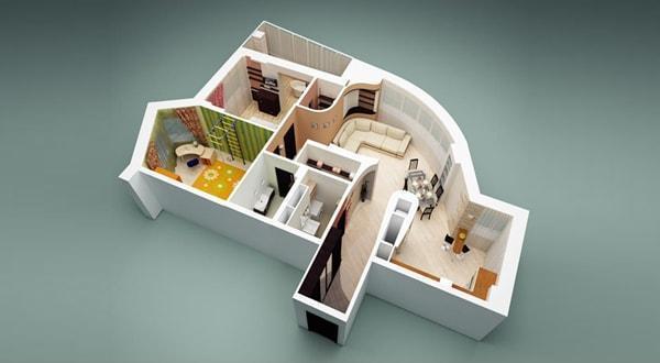 дизайн загородного дома под ключ в Казани, дизайн интерьера частного дома