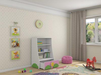 купить детскую мебель в Казани стеллаж Ромашка