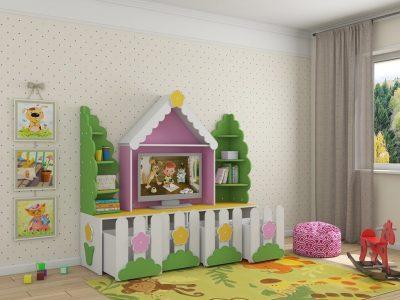 Детская мебель Казань стенка ТВ Ромашка цена