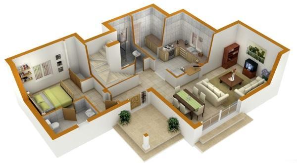 дизайн интерьера 3d в Казани, дизайн проект квартиры с 3Д визуализацией